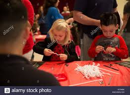 children build icicle ornaments dec 20 during the spaghetti with