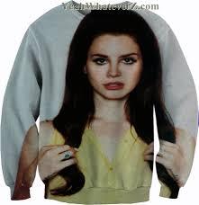 lana del rey crew neck sweatshirt on the hunt
