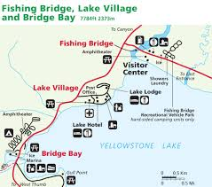 Michigan On Map Yellowstone Maps Lake Village Fishing Bridge Bridge Bay Alltrips
