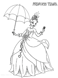 princess coloring pages disney tiana pictures colouring disney