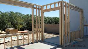 Framing Patio Door Framed Desert Domicile