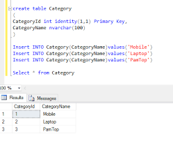 sql create table primary key autoincrement auto increment id in sql server dotnet solution