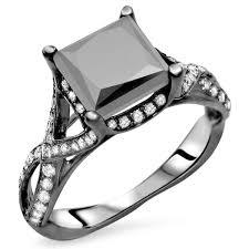 Black Gold Wedding Rings by Noori 18k Black Gold 2 2 5ct Tdw Certified Black Diamond Princess