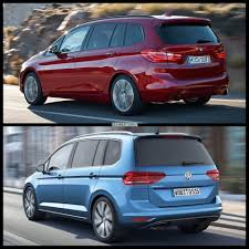 volkswagen minivan 2015 photo comparison volkswagen touran vs bmw 2 series gran tourer