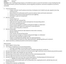 sle resume staff accountant position summary for accountant job description for accounts payable manager fred resumes