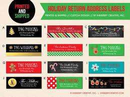 and return address labels custom designed to