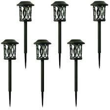 portfolio solar path lights solar powered led landscape lights solar bronze outdoor integrated