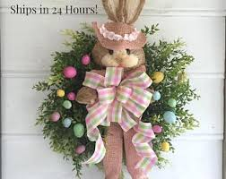easter wreath easter wreath etsy