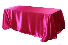 fuschia pink table cloth 90 x 156 inch rectangular satin tablecloth fuchsia at cv linens cv