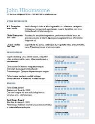 Professionally Done Resumes 22 Contemporary Resume Templates Free Download