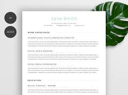 Resum Cv Stylish Resume Cv Resume Templates Creative Market