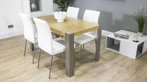 Modern Oak Dining Tables Contemporary Modern Oak Dining Table And Faux Leather Dining