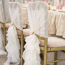 ruffled chair covers organza chair cover with ruffles for wedding organza chair cover