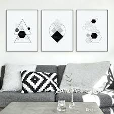 geometric home decor geometric home decor black white modern original abstract shape