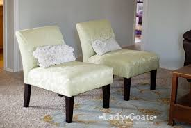 Recovering An Armchair Lady Goats Diy Slipper Chair Slipcover Without A Template