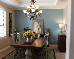 dining room gold metal chrome chandelier with blue fabric