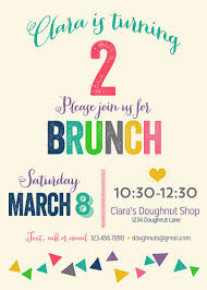 brunch party invitations let s do brunch clara s second birthday cook like a