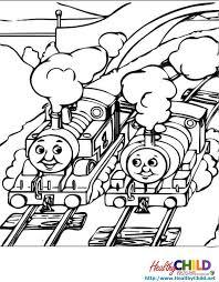 thomas racing thomas train coloring pages