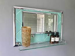 vintage retro bathroom mirror with shelf 344 vinterior realie
