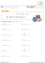 primaryleap co uk simple algebraic expressions worksheet maths