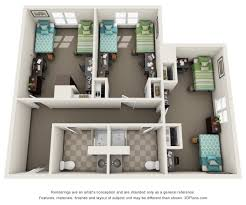 Floor Plan Of A House With Dimensions Ush Communities West Chester University Brandywine Hall