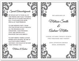 blank wedding program templates black damask corners wedding program myexpression 35216