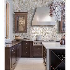 classic kitchen backsplash seashell mosaic iridescence of pearl tile