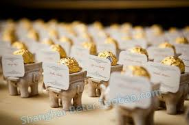 indian wedding favors 50box free shipping adorable resin elephant candle holder and