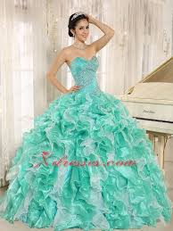 aqua green quinceanera dresses apple green beaded bodice and ruffles custom made for 2013