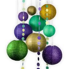 mardi gras paper 12 pc mardi gras glitter colorful carnaval paper lantern combo