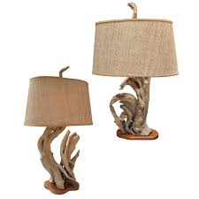pair of driftwood creations lamps by nunzi at 1stdibs