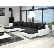 canapé panoramique 7 places meublesline canapé panoramique dante 6 places tissu et simili cuir
