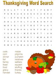 free thanksgiving word search worksheets for all and
