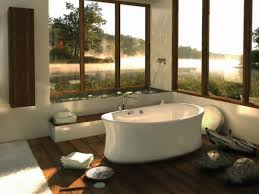 Green Laminate Flooring Bathroom Unique Yet Awesome Central Freestading Bathtub With