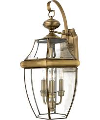 Outdoor Brass Lights Quoizel Ny8318 Newbury 13 Inch Wide 3 Light Outdoor Wall Light