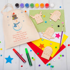 personalised snowman christmas decorations craft kit by british