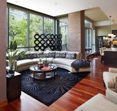 brazilian walnut flooring living room contemporary with accent