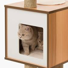 amazon com vesper cat furniture walnut v high base pet supplies