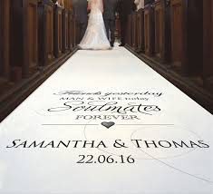 wedding runners say hello to personalised aisle runners b g