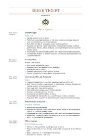 Merchandise Manager Resume Sample by Download Shift Manager Resume Haadyaooverbayresort Com