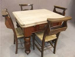 VICTORIAN PINE EXTENDING TABLE WITH  CHAPEL CHAIRS - Victorian pine kitchen table