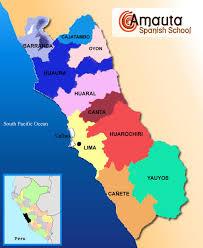 lima map maps of peru peru overview