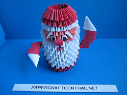easy origami christmas ornaments 3d origami christmas santa