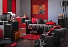 Gray And Red Living Room Home Design Ideas - Red sofa design ideas
