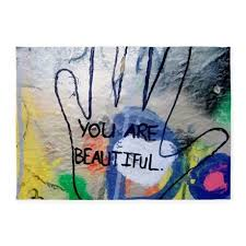 Graffiti Area Rug You Are Beautiful Graffiti 5 X7 Area Rug By Admin Cp113483648