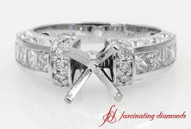 engagement ring settings only eternity princess cut with sapphire antique wedding ring