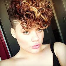 curly shaved side hair exceptional shaved hairstyles for women hairstyles 2017 hair