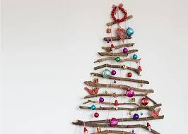 twig christmas tree create a festive feature wall with a twig christmas tree
