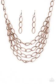 copper necklace chain images Paparazzi accessories chain reaction copper jpg