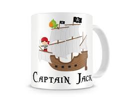 pirate ship boys personalized kids mugs pirate personalized kids